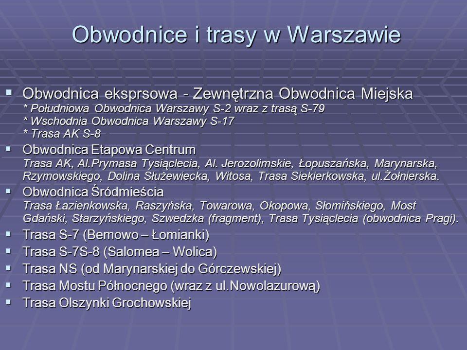 Obwodnice i trasy w Warszawie
