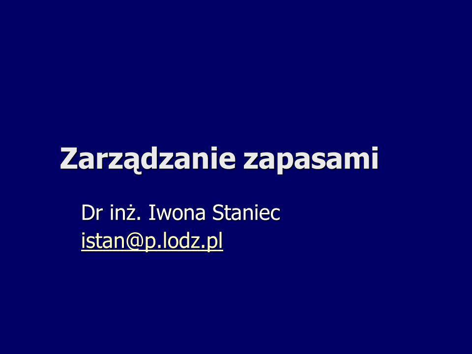 Dr inż. Iwona Staniec istan@p.lodz.pl