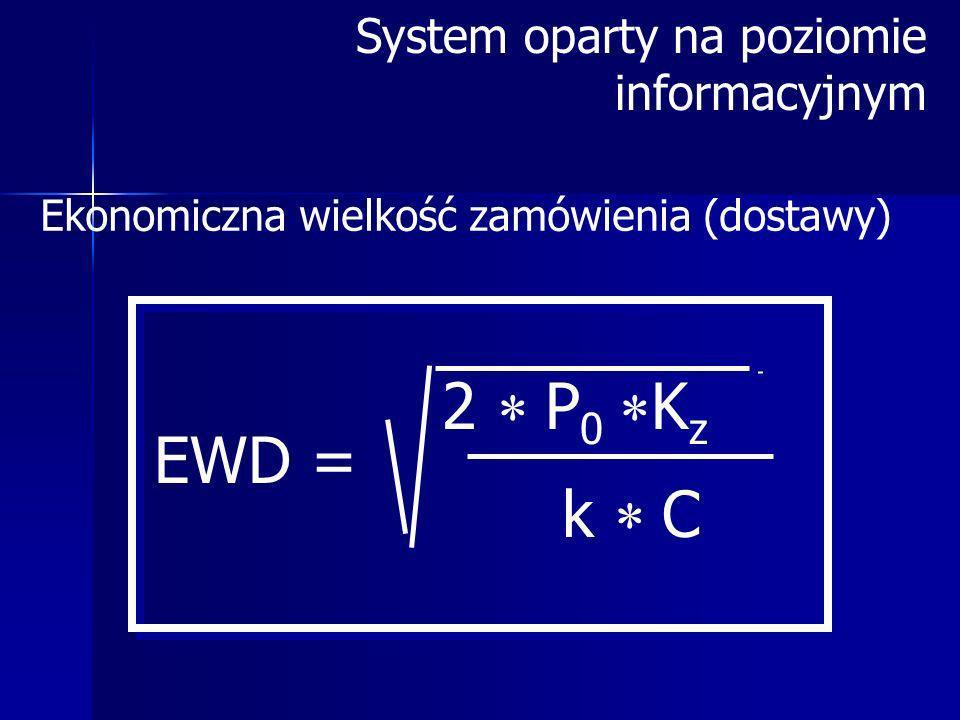 2 P0Kz EWD = k C System oparty na poziomie informacyjnym