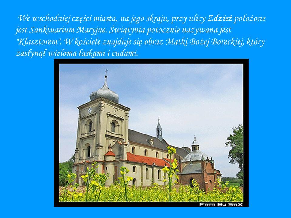 We wschodniej części miasta, na jego skraju, przy ulicy Zdzież położone jest Sanktuarium Maryjne.