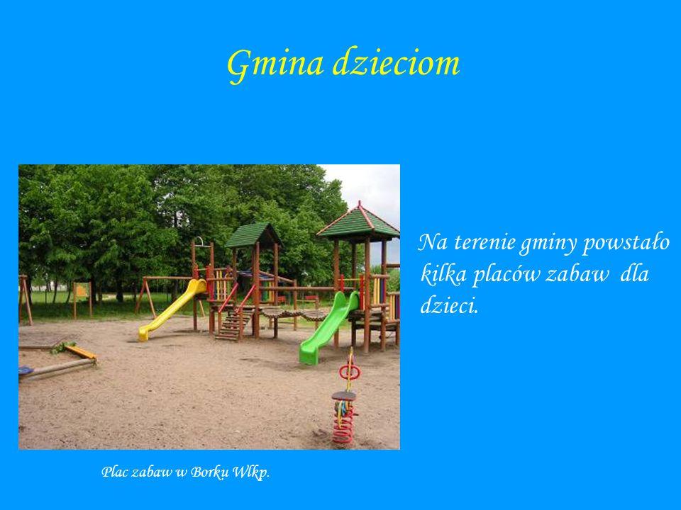 Gmina dzieciom Na terenie gminy powstało kilka placów zabaw dla dzieci. Plac zabaw w Borku Wlkp.