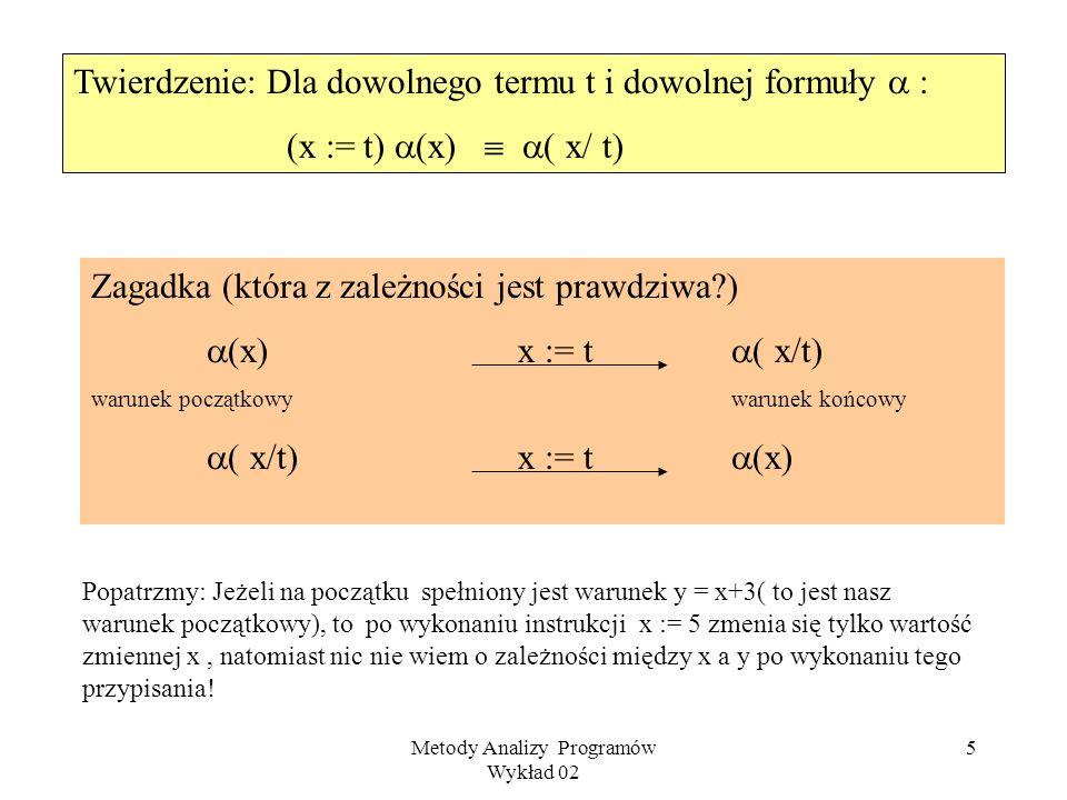 Metody Analizy Programów Wykład 02