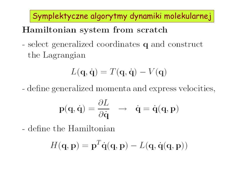 Symplektyczne algorytmy dynamiki molekularnej