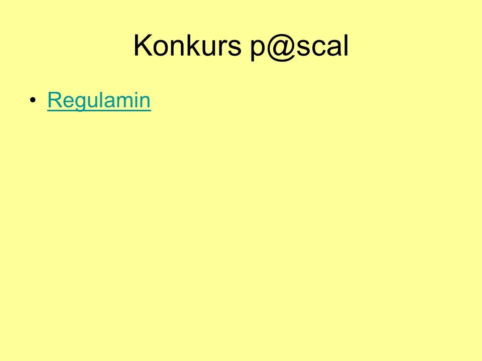 Konkurs p@scal Regulamin