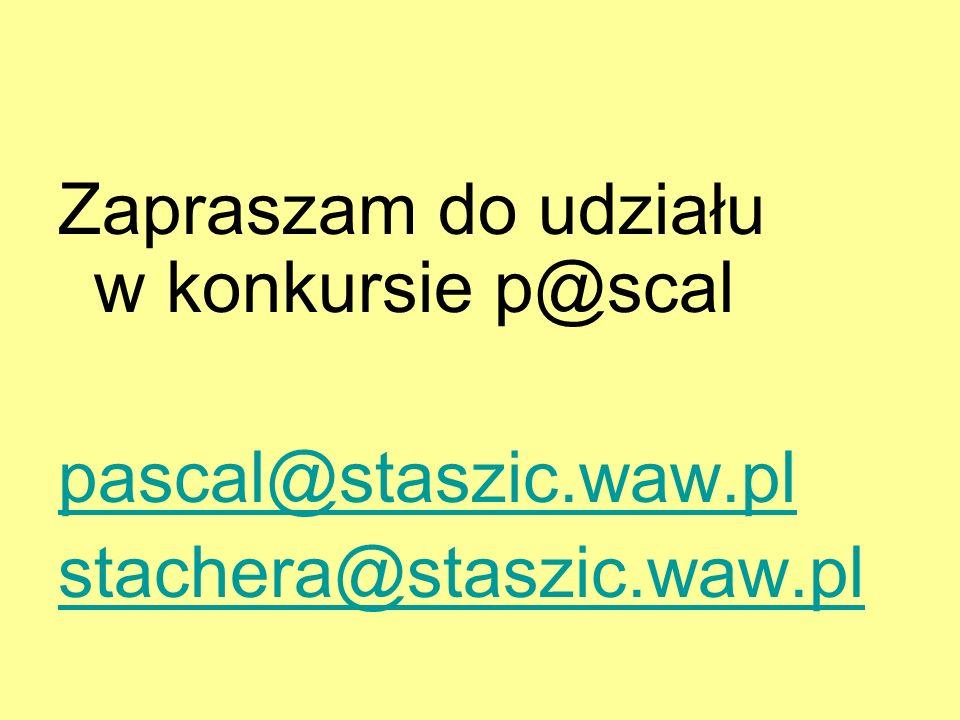 Zapraszam do udziału w konkursie p@scal
