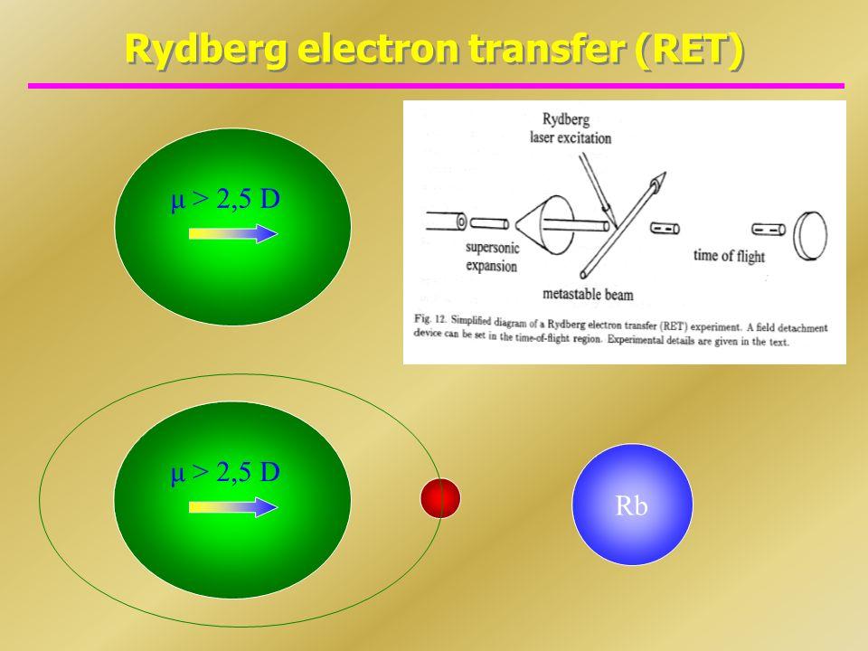 Rydberg electron transfer (RET)