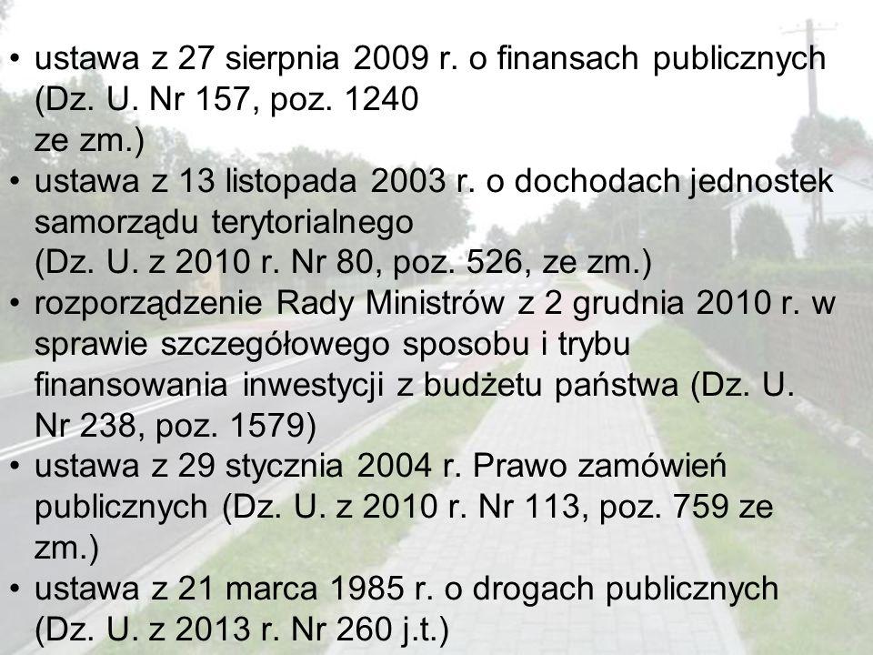 ustawa z 27 sierpnia 2009 r. o finansach publicznych (Dz. U