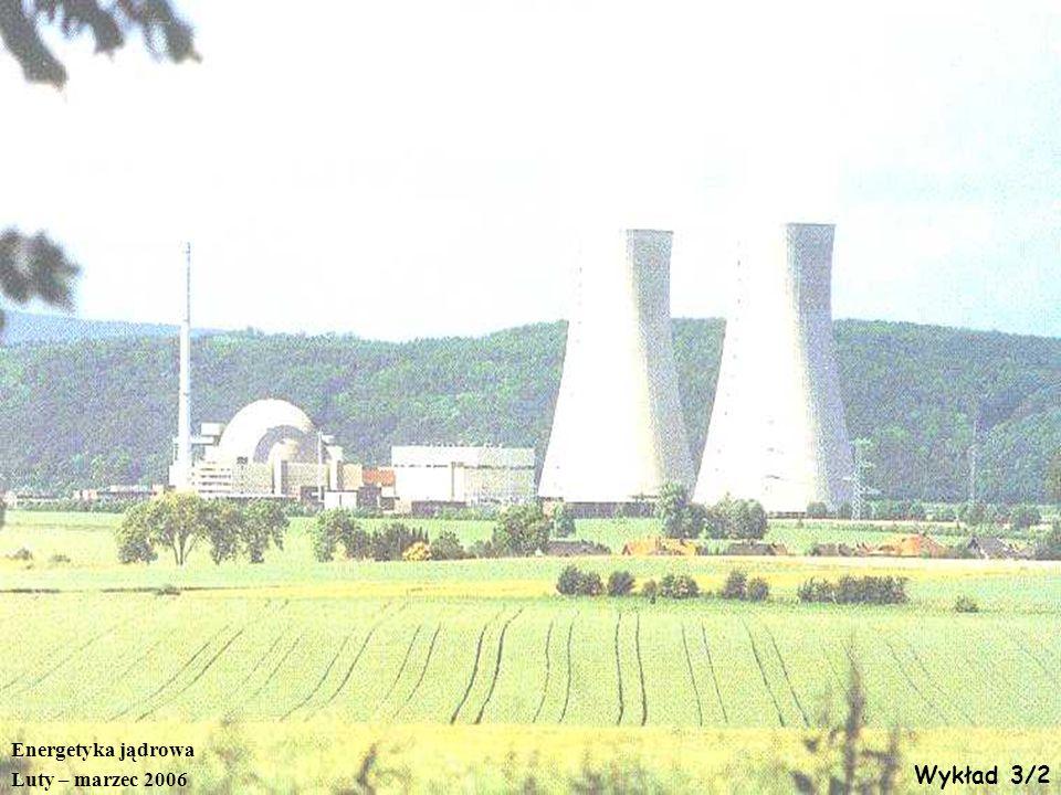 Energetyka jądrowa Luty – marzec 2006 Wykład 3/2