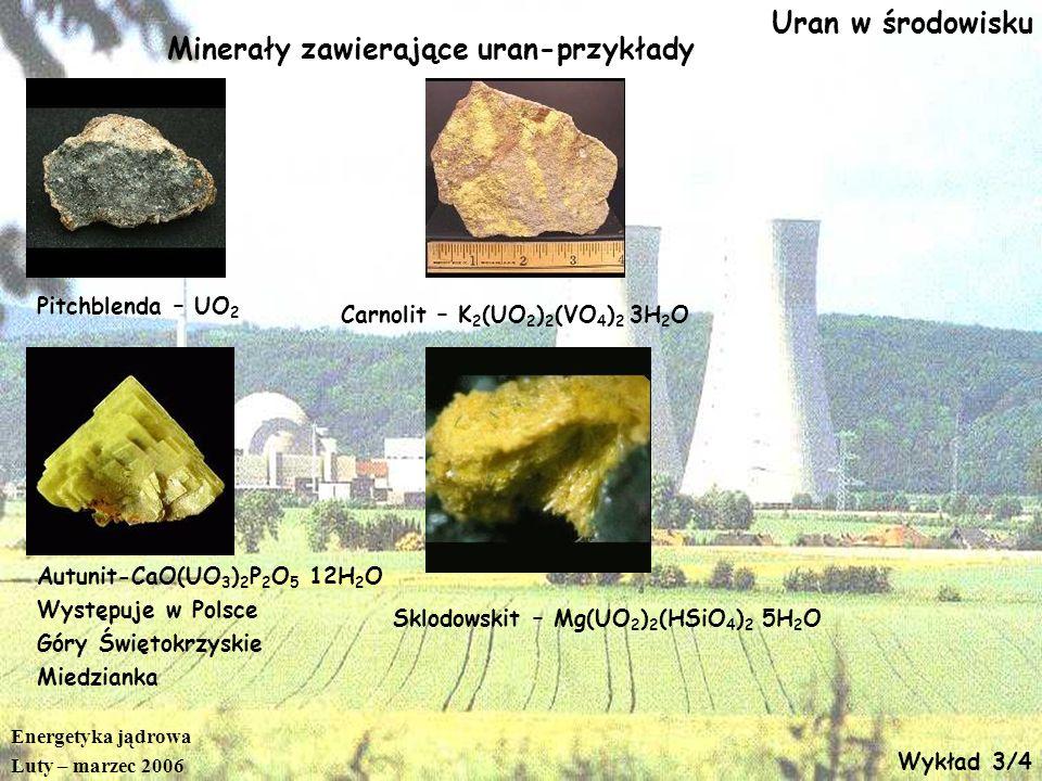 Minerały zawierające uran-przykłady