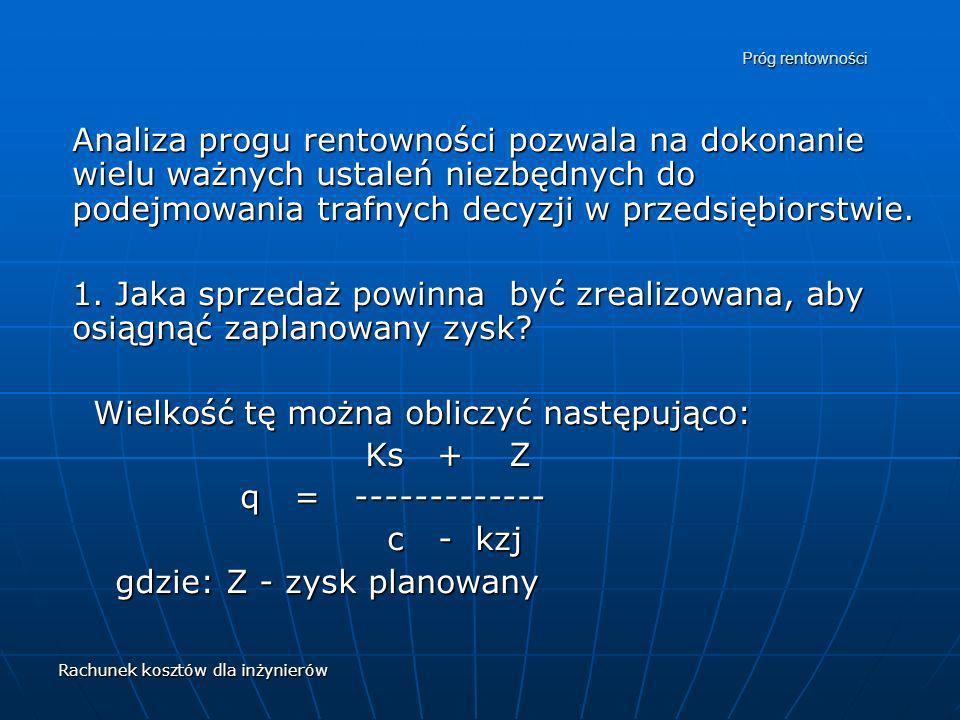 Wielkość tę można obliczyć następująco: Ks + Z q = -------------