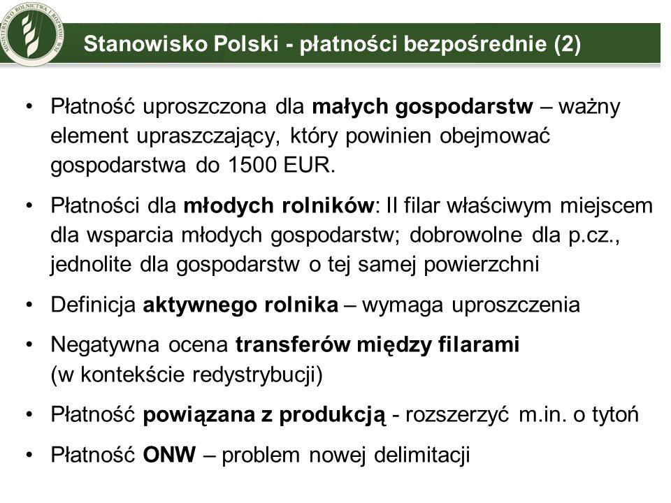 Stanowisko Polski - płatności bezpośrednie (2)