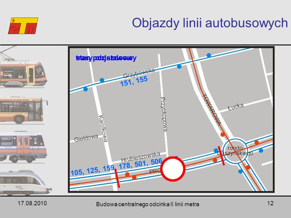Objazdy linii autobusowych