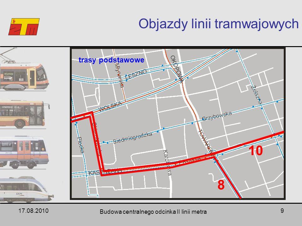Objazdy linii tramwajowych