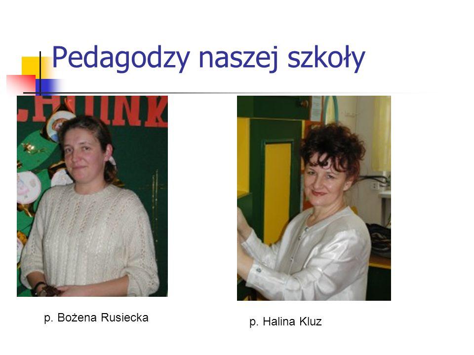 Pedagodzy naszej szkoły