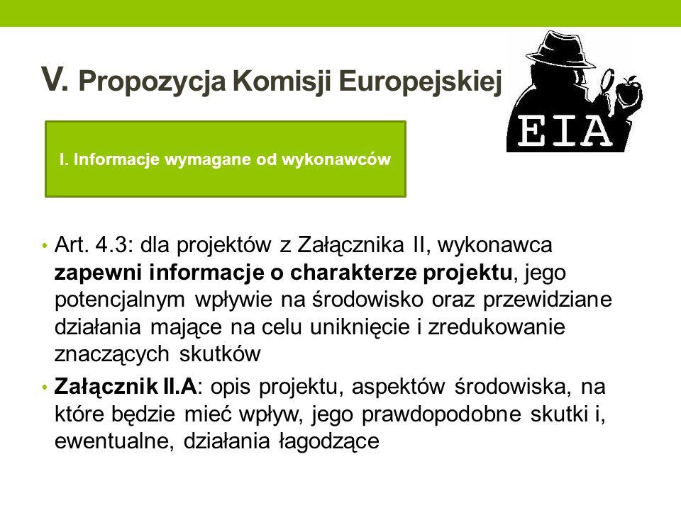 V. Propozycja Komisji Europejskiej