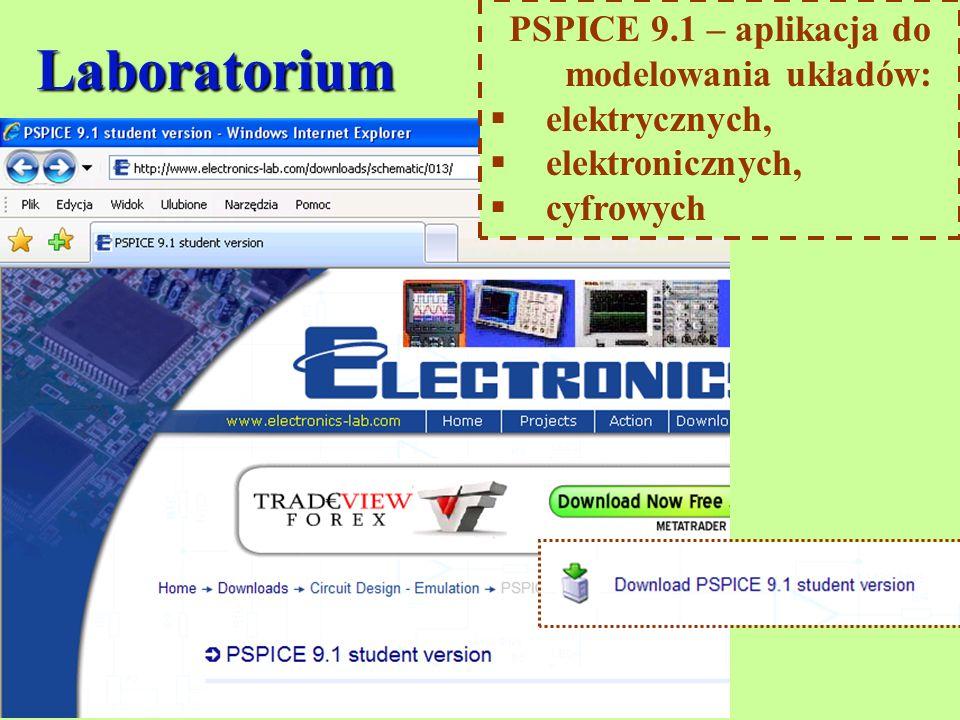 PSPICE 9.1 – aplikacja do modelowania układów: