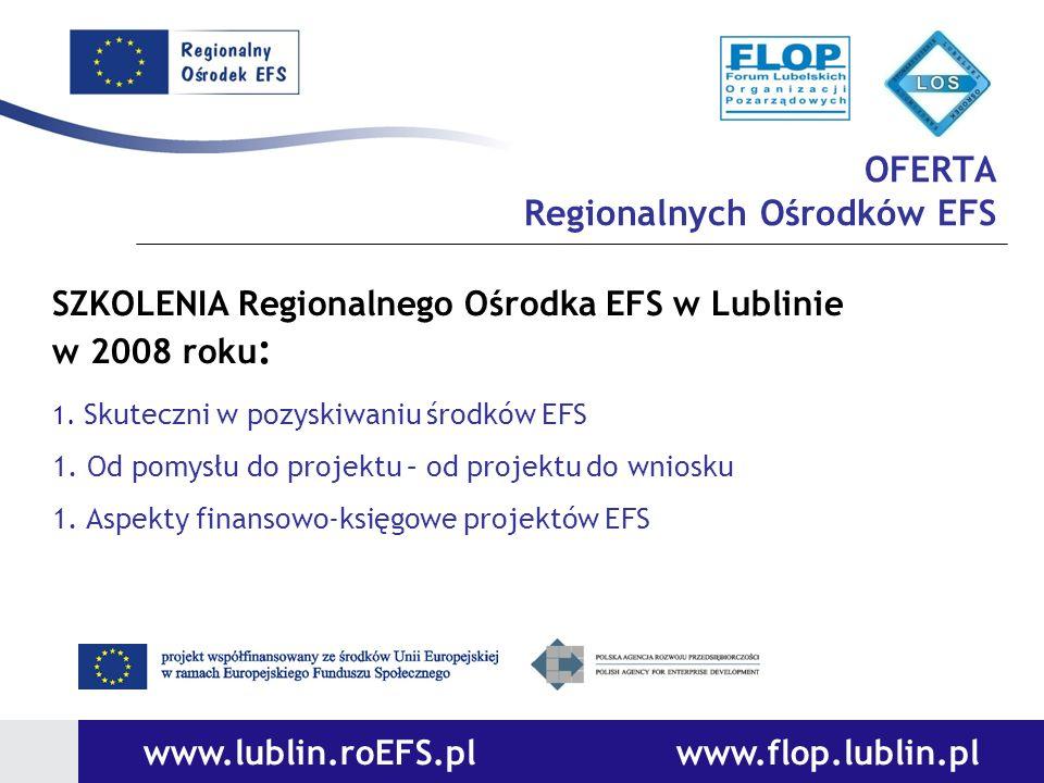 OFERTA Regionalnych Ośrodków EFS