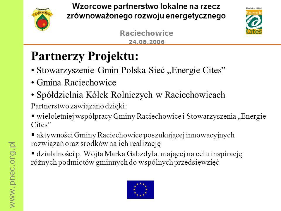 """Partnerzy Projektu: Stowarzyszenie Gmin Polska Sieć """"Energie Cites"""