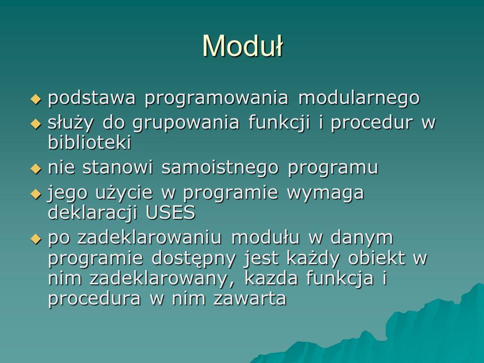 Moduł podstawa programowania modularnego