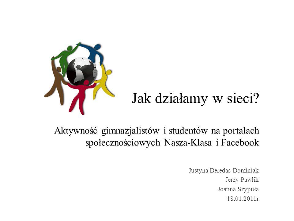 Justyna Deredas-Dominiak Jerzy Pawlik Joanna Szypuła 18.01.2011r