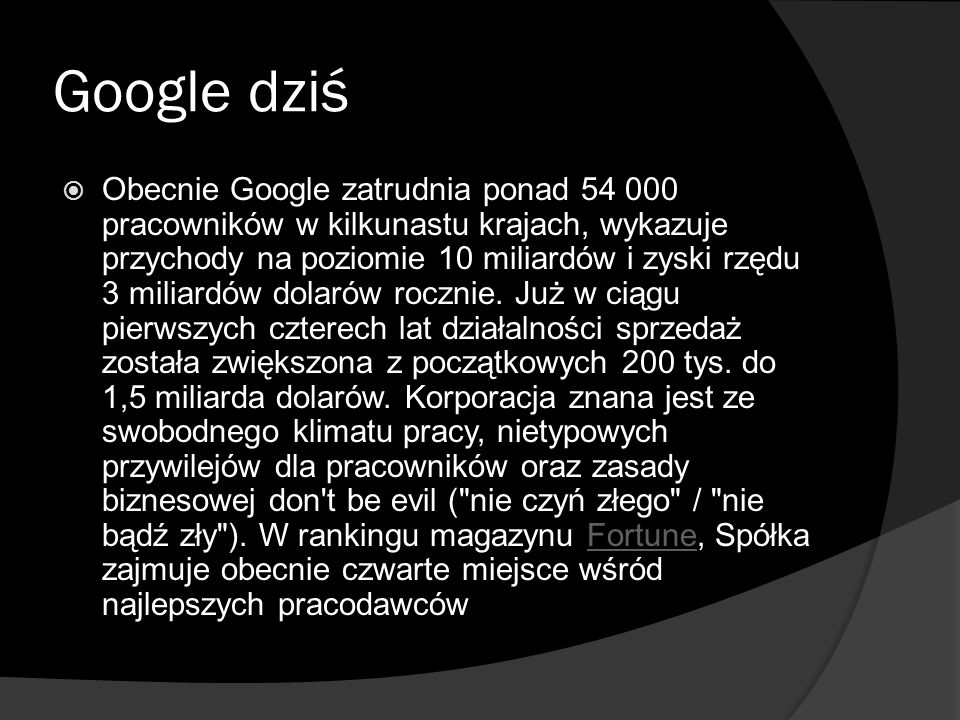 Google dziś