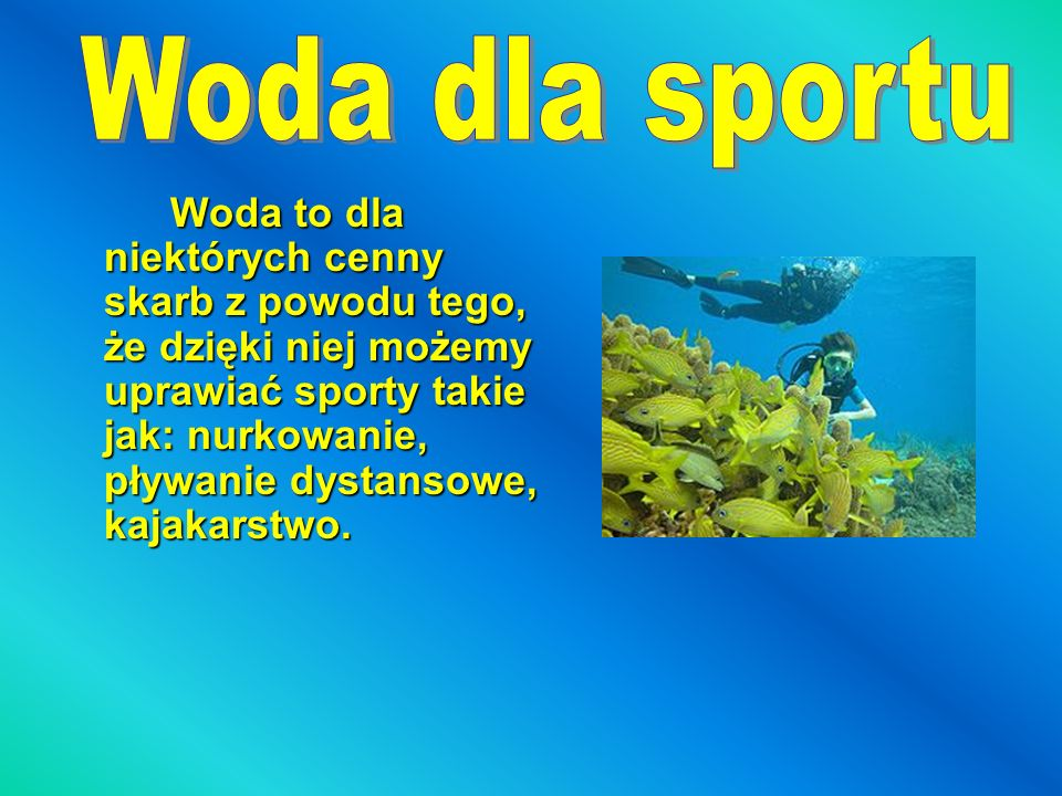 Woda dla sportu