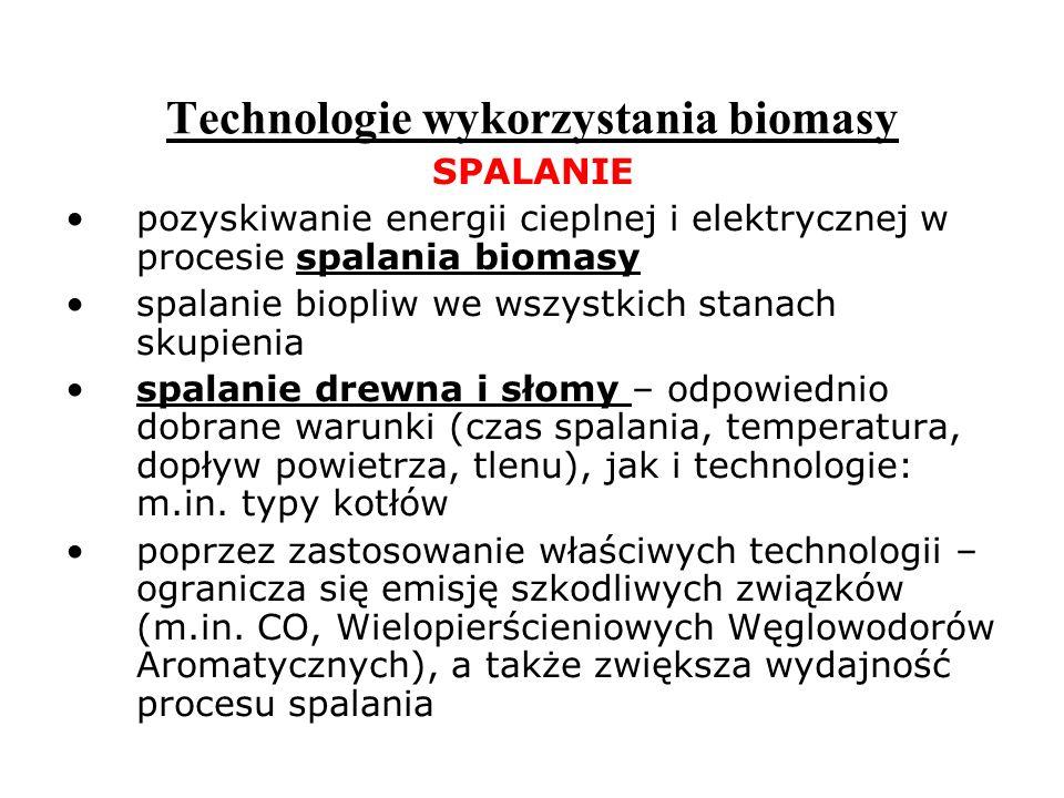 Technologie wykorzystania biomasy