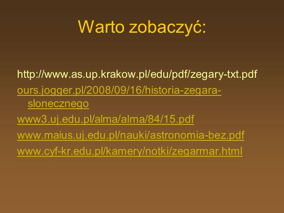 Warto zobaczyć: http://www.as.up.krakow.pl/edu/pdf/zegary-txt.pdf