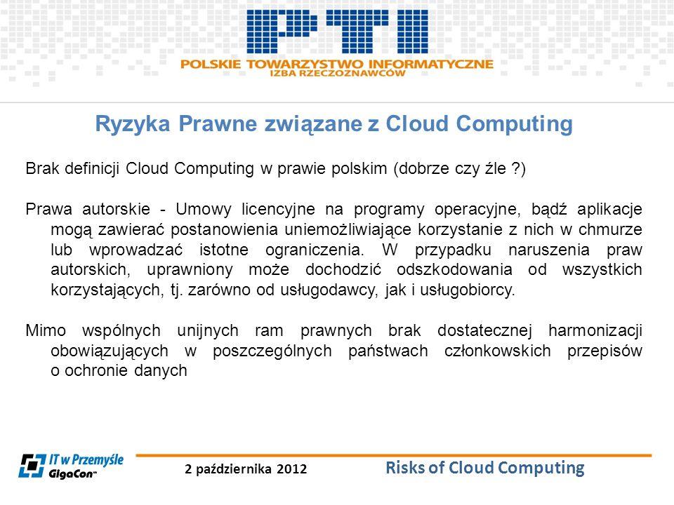Ryzyka Prawne związane z Cloud Computing