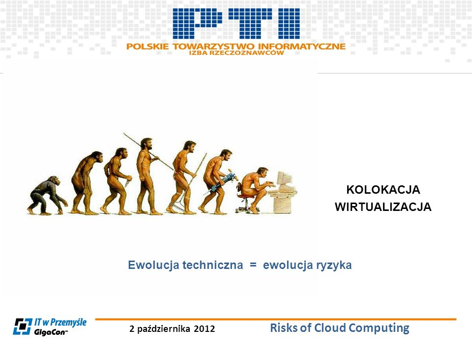 KOLOKACJA WIRTUALIZACJA Ewolucja techniczna = ewolucja ryzyka