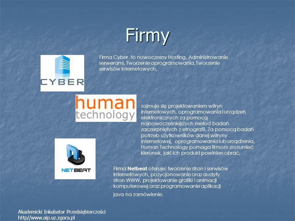 Firmy Firma Cyber to nowoczesny Hosting, Administrowanie serwerami, Tworzenie oprogramowania, Tworzenie serwisów internetowych,
