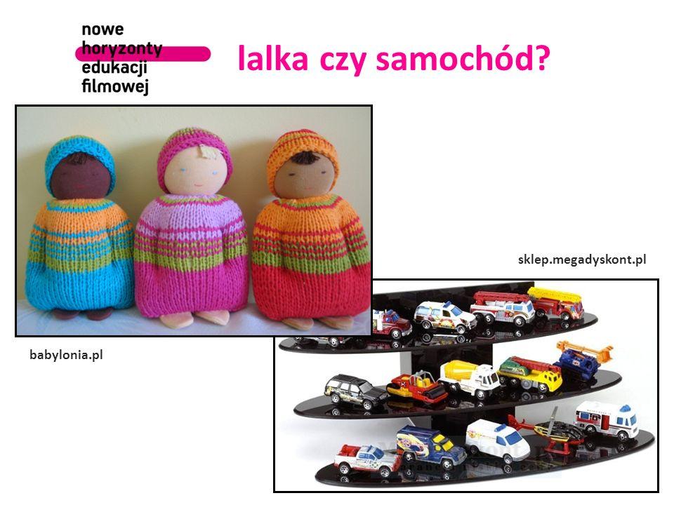 lalka czy samochód Na początek można zrobić dzieciakom mały test.