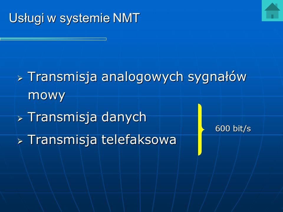 Transmisja analogowych sygnałów mowy Transmisja danych