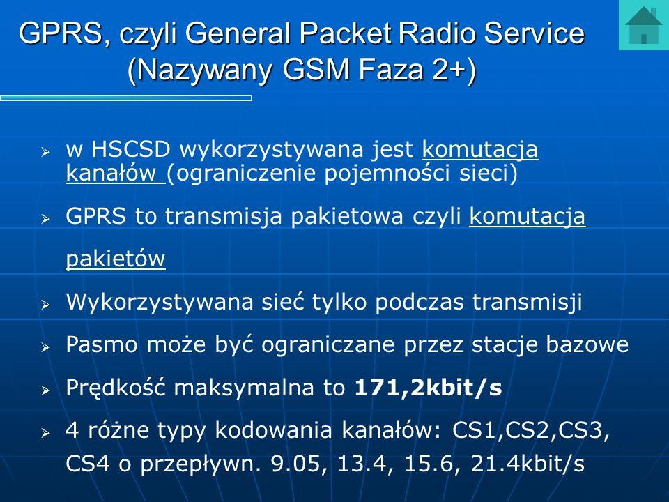 GPRS, czyli General Packet Radio Service (Nazywany GSM Faza 2+)