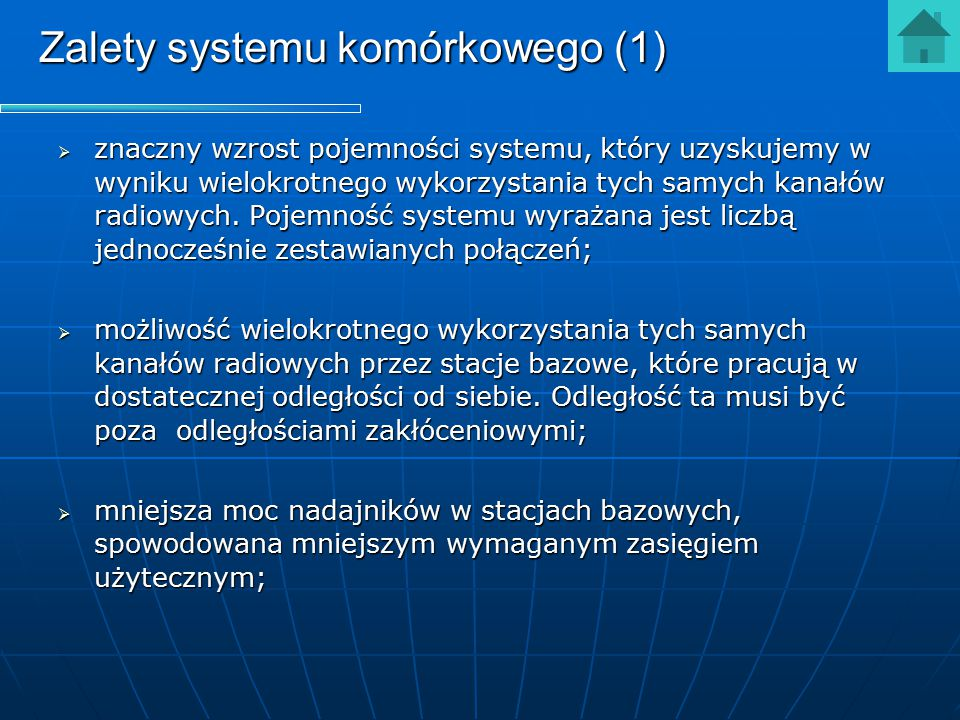 Zalety systemu komórkowego (1)