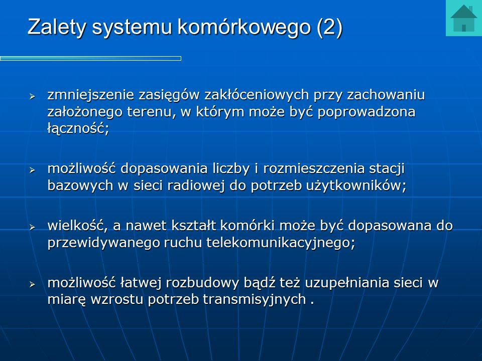 Zalety systemu komórkowego (2)