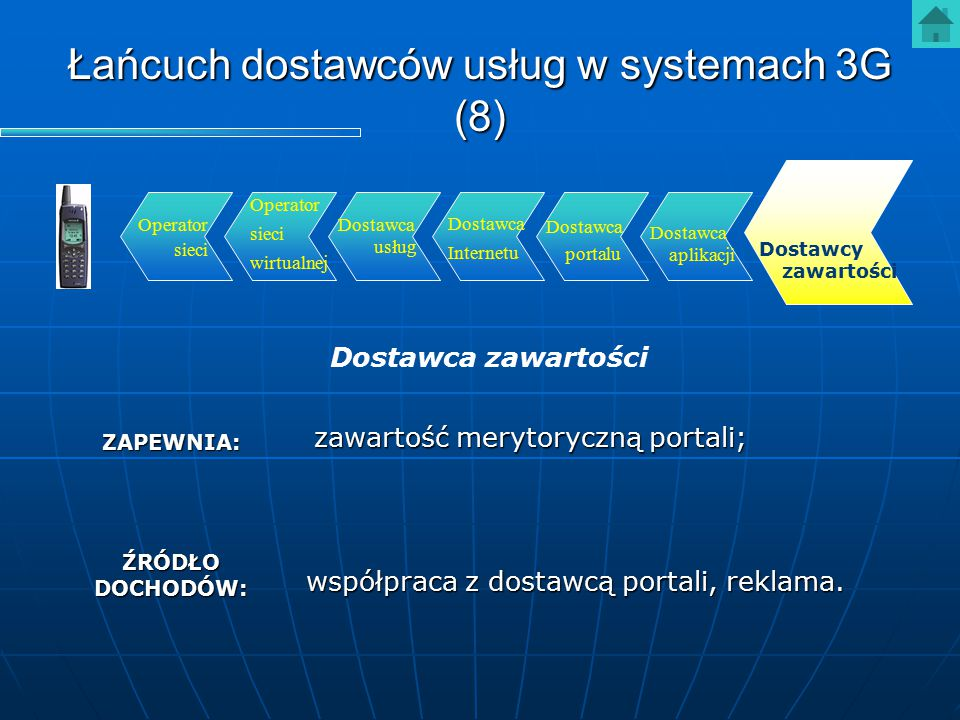 Łańcuch dostawców usług w systemach 3G (8)