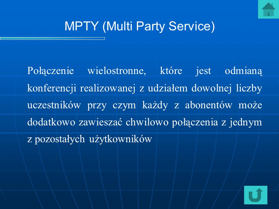 MPTY (Multi Party Service)