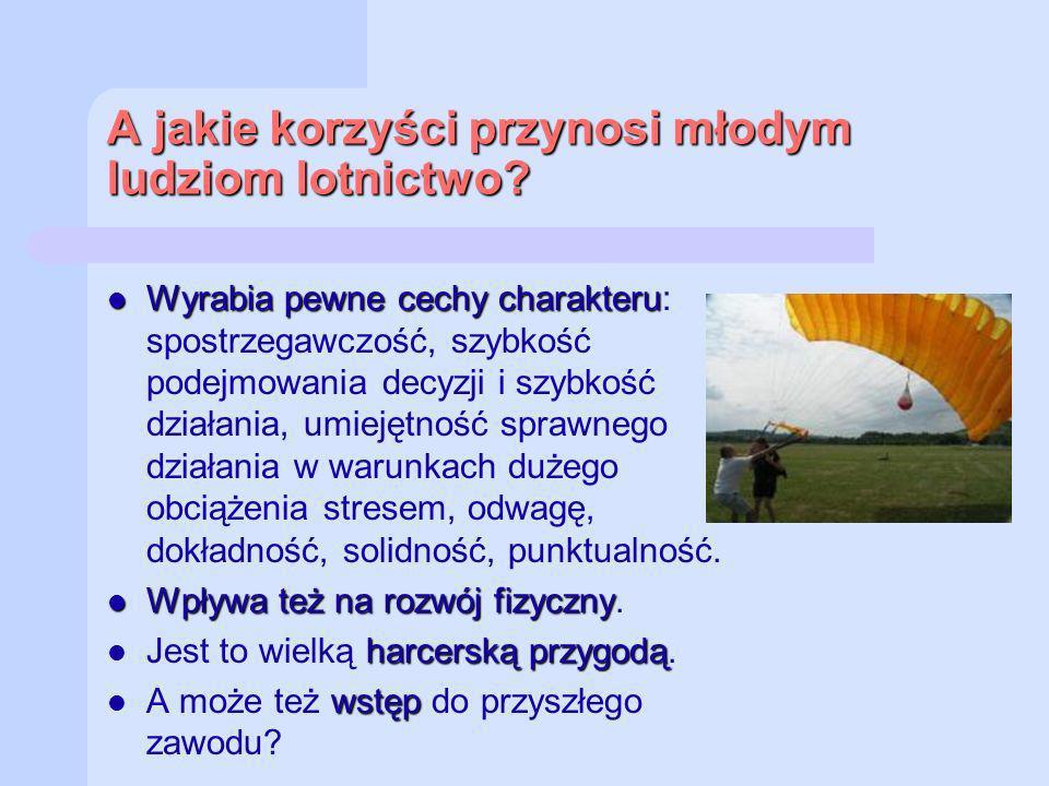 A jakie korzyści przynosi młodym ludziom lotnictwo
