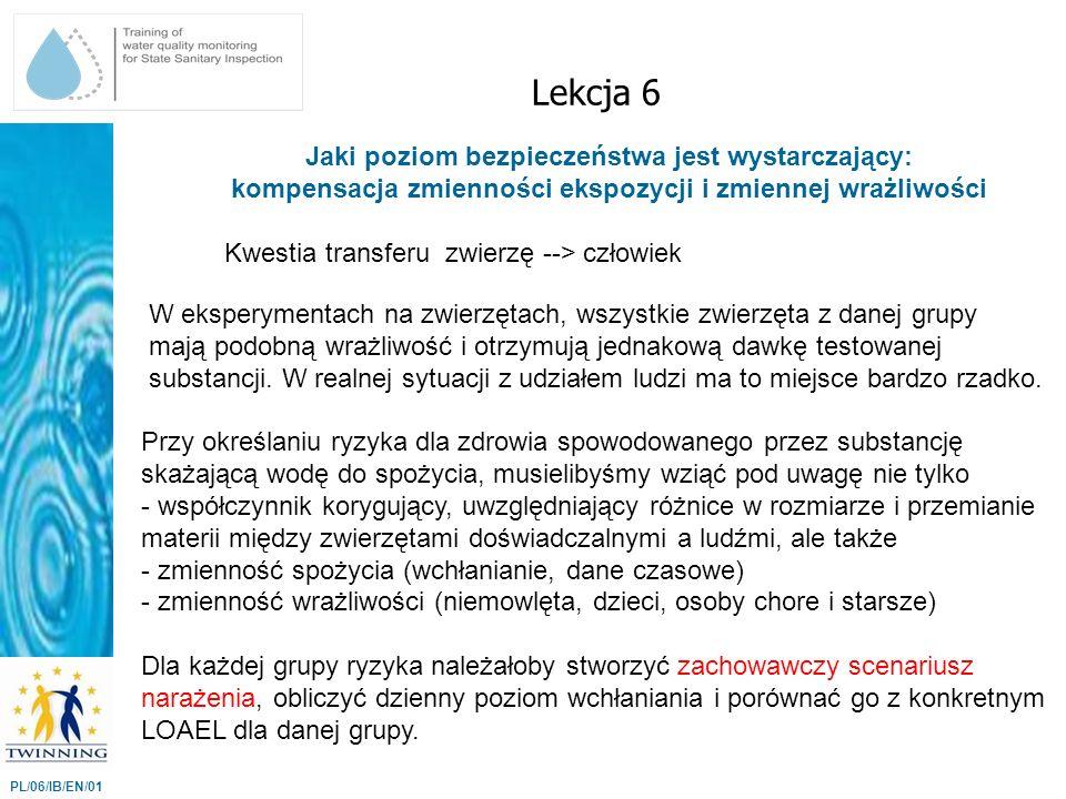 Lekcja 6 Jaki poziom bezpieczeństwa jest wystarczający: kompensacja zmienności ekspozycji i zmiennej wrażliwości.