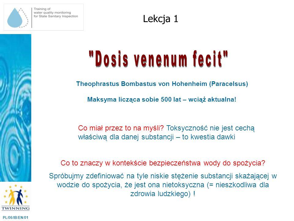 Dosis venenum fecit Lekcja 1