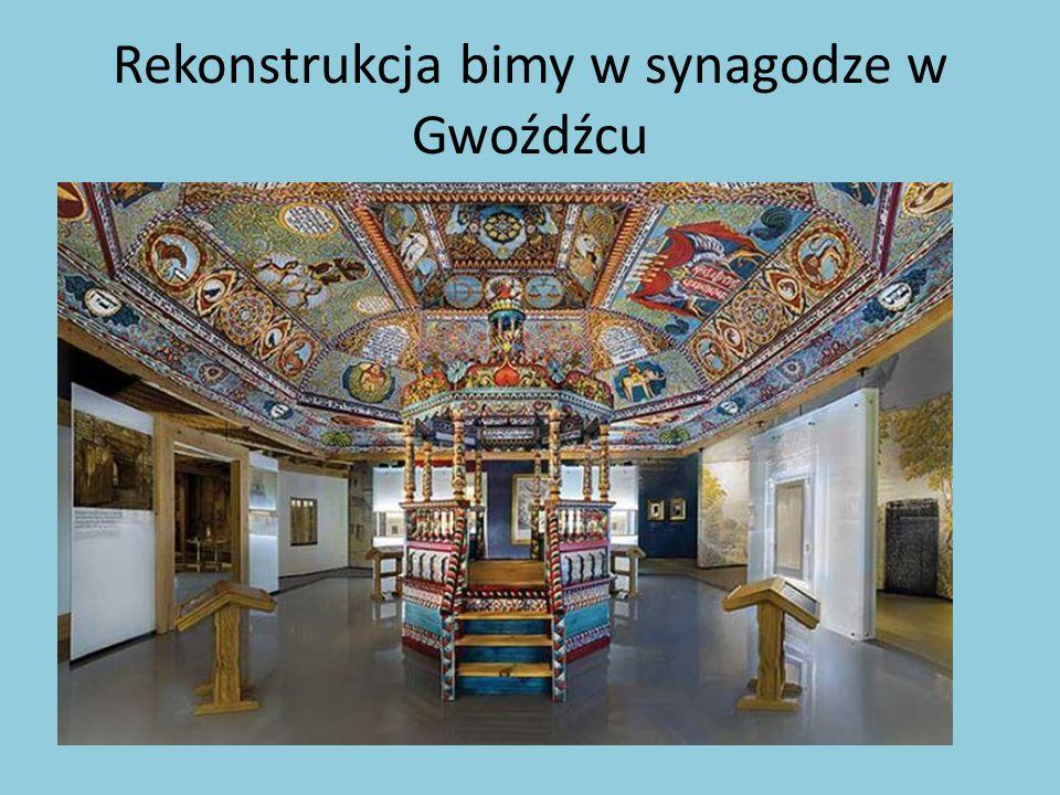 Rekonstrukcja bimy w synagodze w Gwoźdźcu