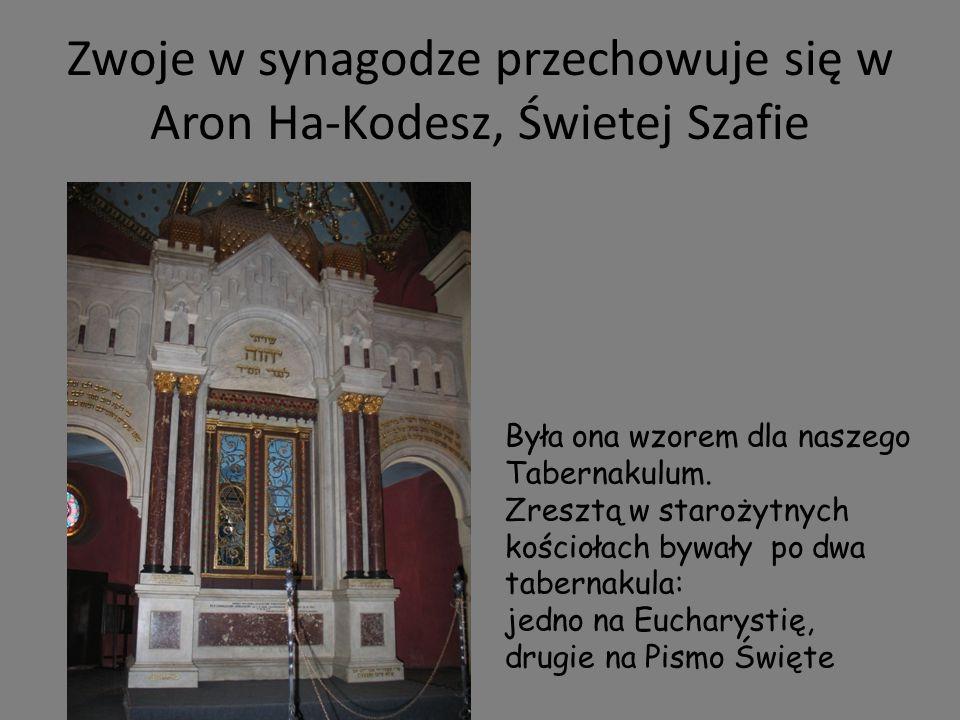 Zwoje w synagodze przechowuje się w Aron Ha-Kodesz, Świetej Szafie