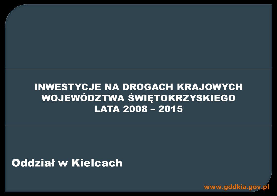 Oddział w Kielcach INWESTYCJE NA DROGACH KRAJOWYCH