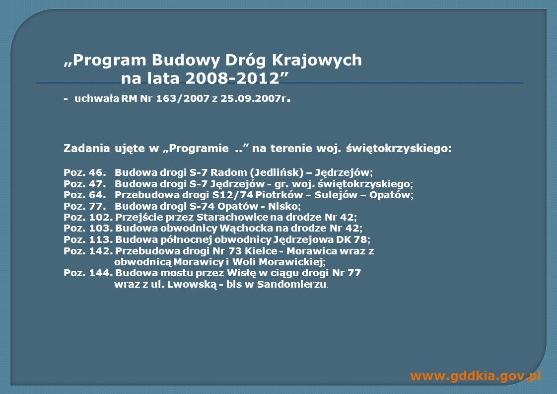"""""""Program Budowy Dróg Krajowych na lata 2008-2012"""