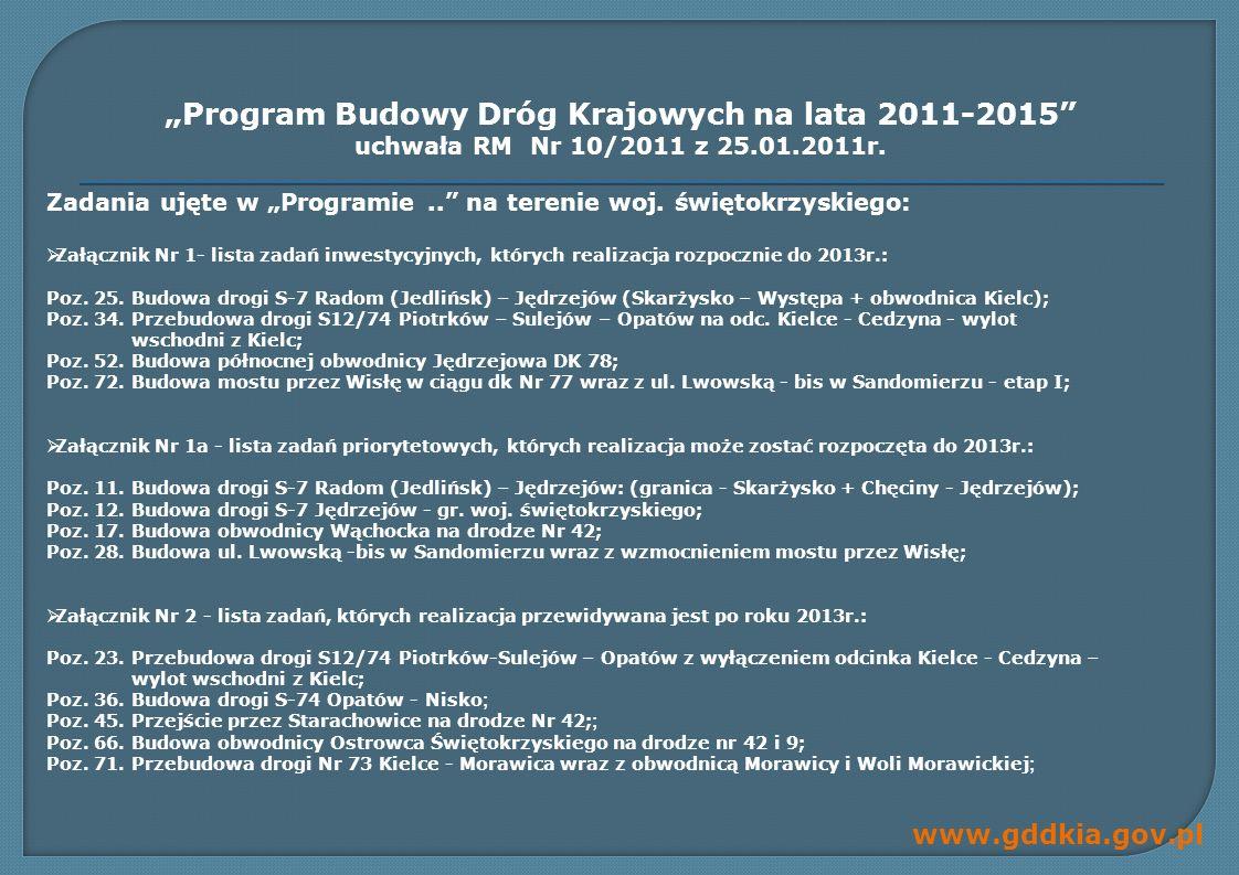 """""""Program Budowy Dróg Krajowych na lata 2011-2015"""