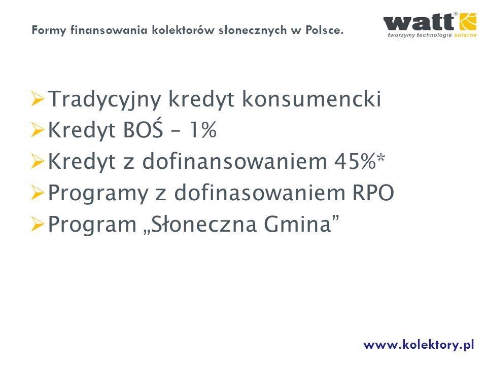 Tradycyjny kredyt konsumencki Kredyt BOŚ – 1%