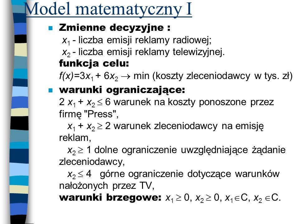 Model matematyczny I