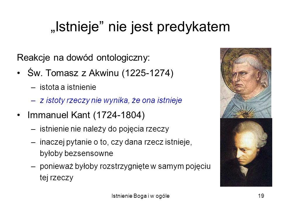 """""""Istnieje nie jest predykatem"""