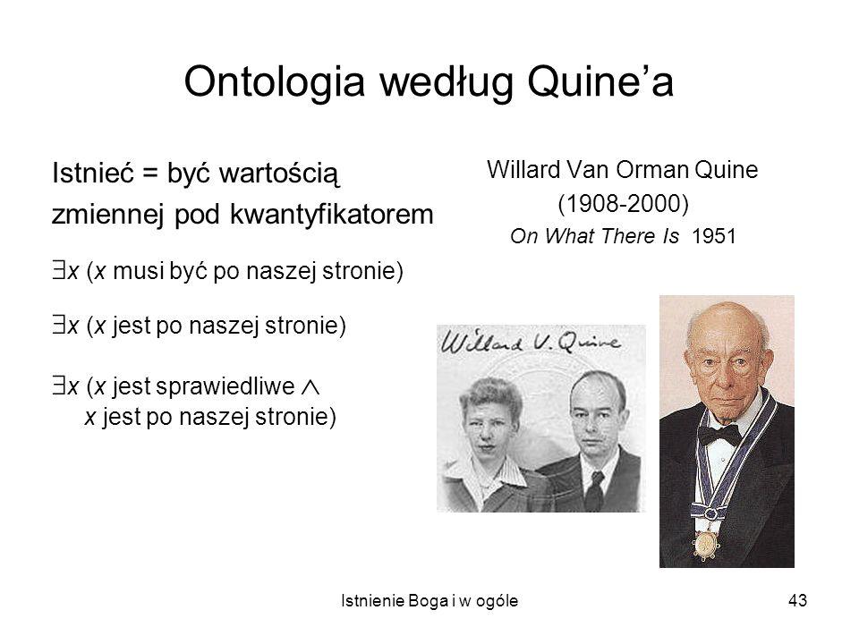 Ontologia według Quine'a